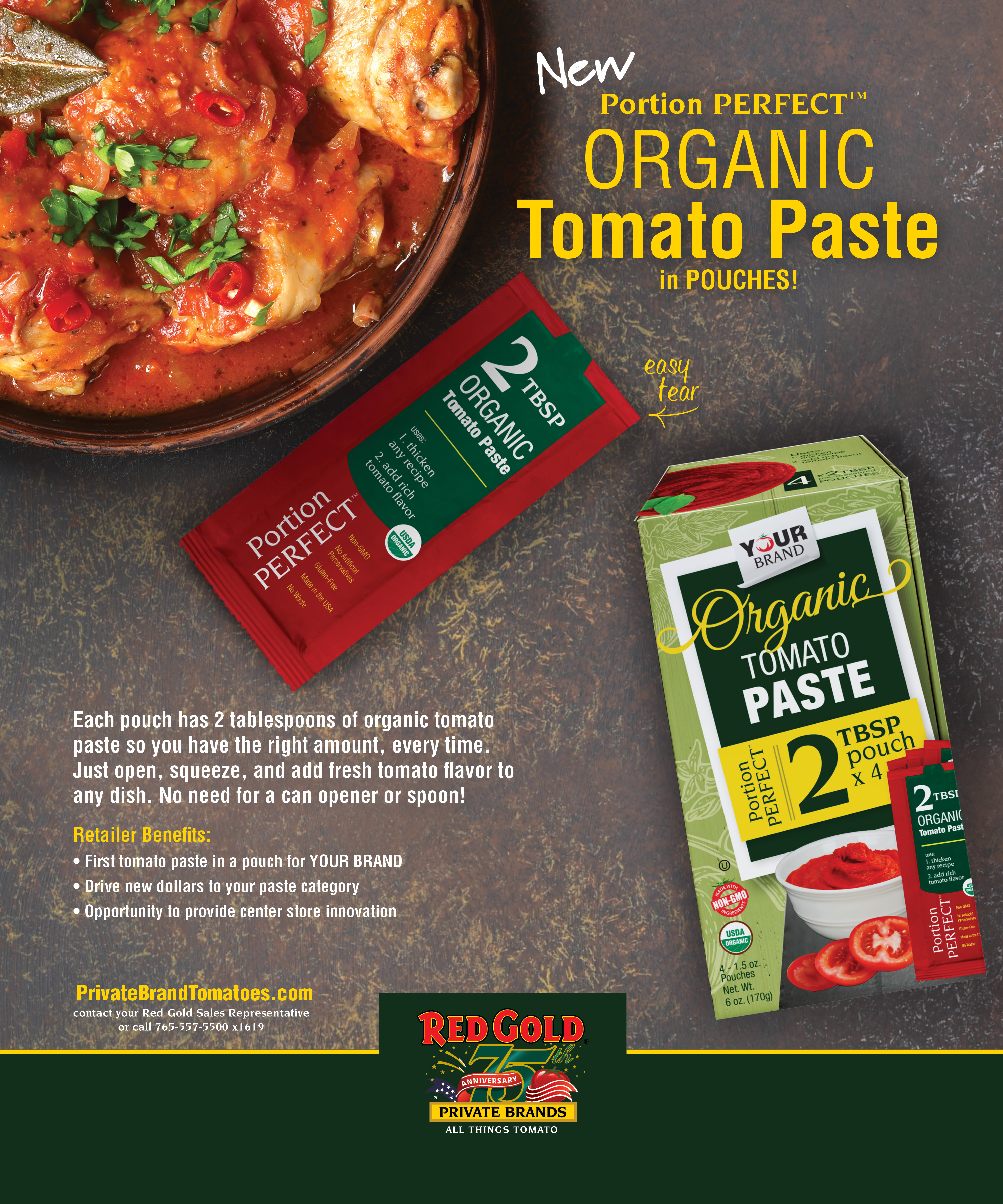 Organic Tomato Paste Packets
