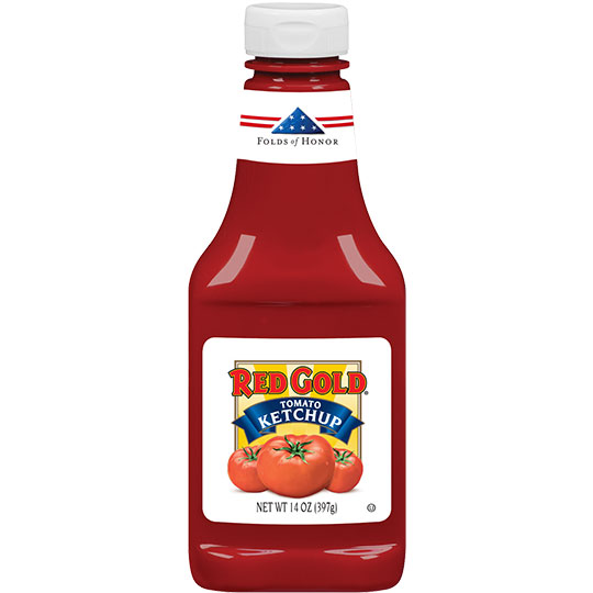 Red Gold Folds of Honor Ketchup_14z