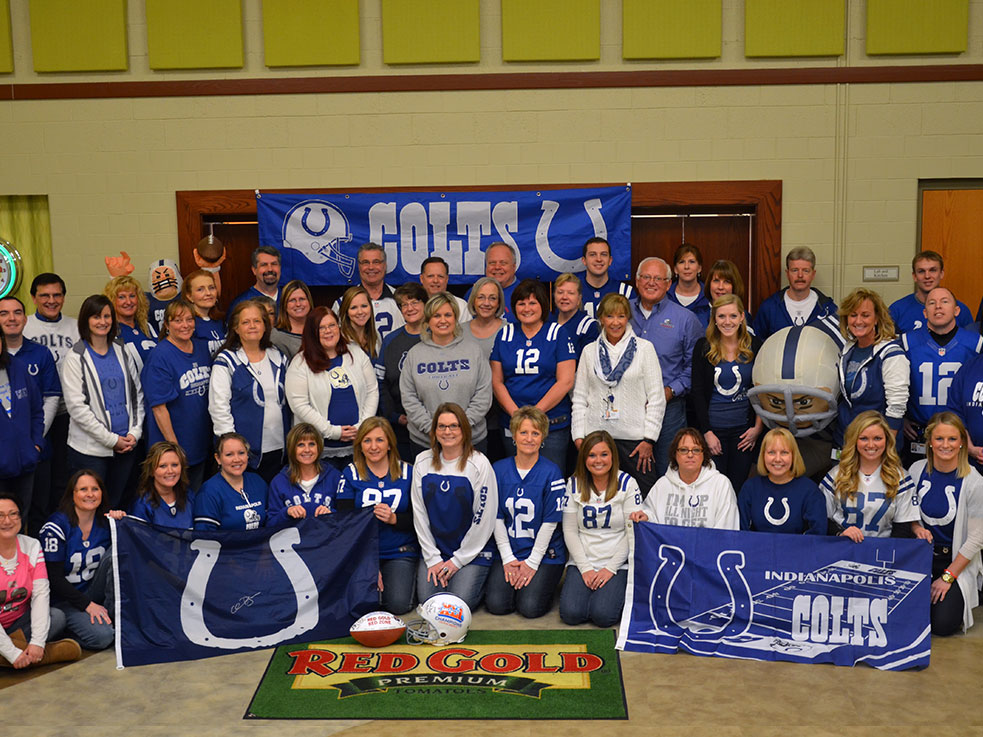 Go Colts! Day at Red Gold Corporate