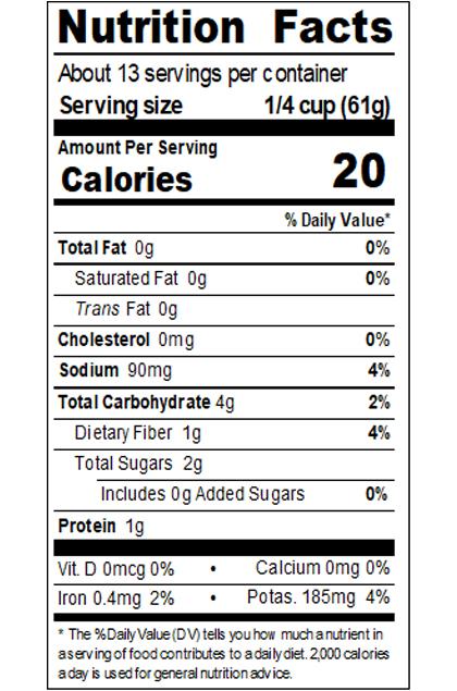Private Brand_DA28_Crushed Tomatoes 28 oz_Nutrition