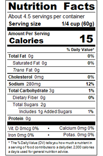 PB_RC10_10 oz Red Mild Enchilada Sauce _Nutrition Label
