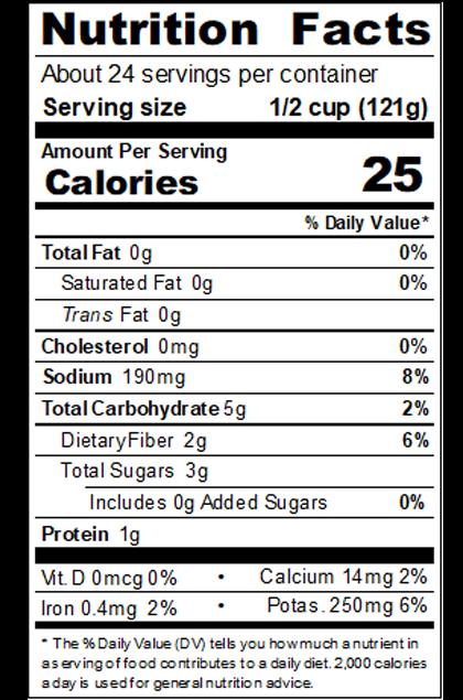 REDBU99_RedGold_ChoppedTomatoesinPuree_#10Can_102OZ_NutritionLabel