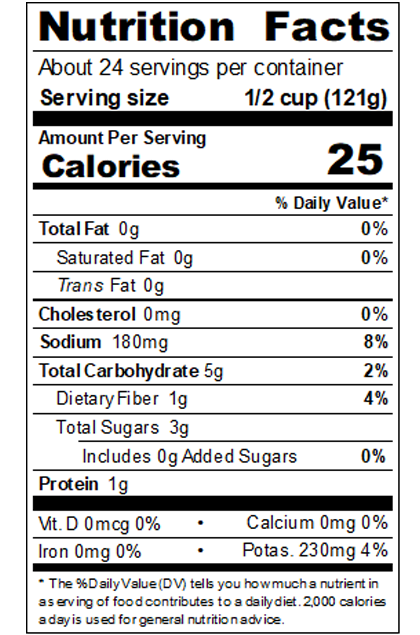 REDBY99_RedGold_DicedTomatoes_1_CutInJuice_#10Can_102OZ_Nutrition Label