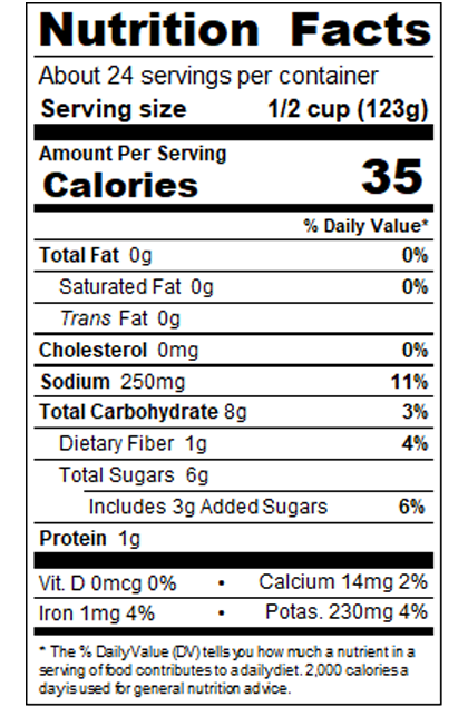 REDCA99_RedGold_StewedTomatoesSlicedinJuice_#10Can_102OZ_Nutrition Label