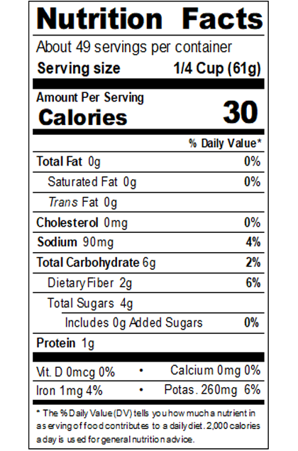 REDDS99_RedGold_CrushedTomatoesConcentratedSuperHeavy_#10Can_105OZ_Nutrition Label