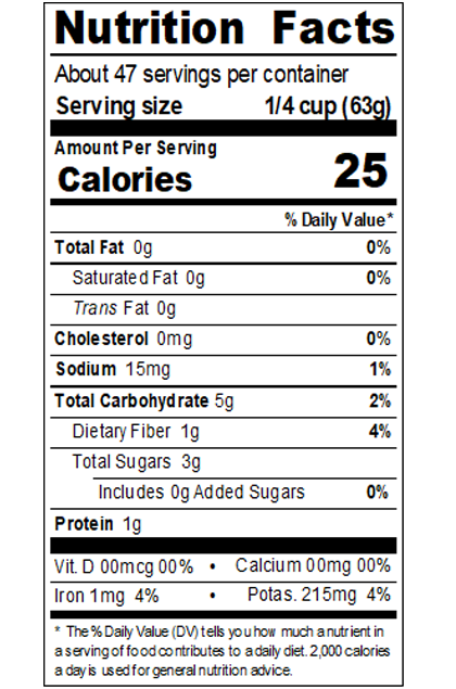 REDH499_RedGold_TomatoPuree_1.045SpecificGravity_#10Can_105OZ_Nutrition Label