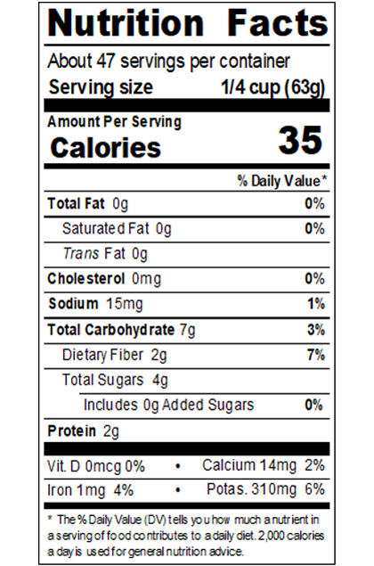 REDH69X_RedGold_TomatoPuree_1.06SpecificGravityExtraHeavy_#10Can_106OZ_Nutrition Label