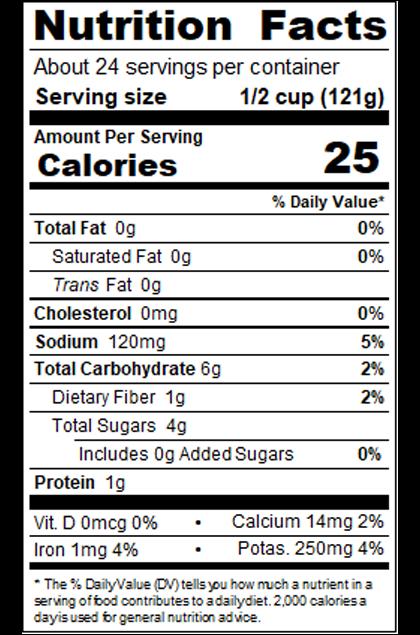 RPKAH99_RedPack_WholePeeledTomatoesinPuree_#10Can_102OZ_Nutrition
