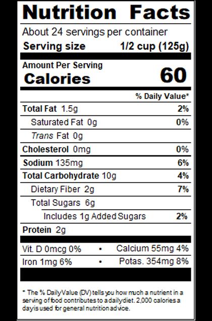RPKNA9E_RedPack_MarinaraSauce_Savory_NutritionallyEnhanced_#10Can_105OZ_Nutrition