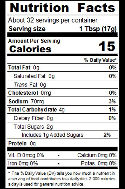 PB_Y6YU_19.5oz Organic Better Balanced Ketchup_Nutrition