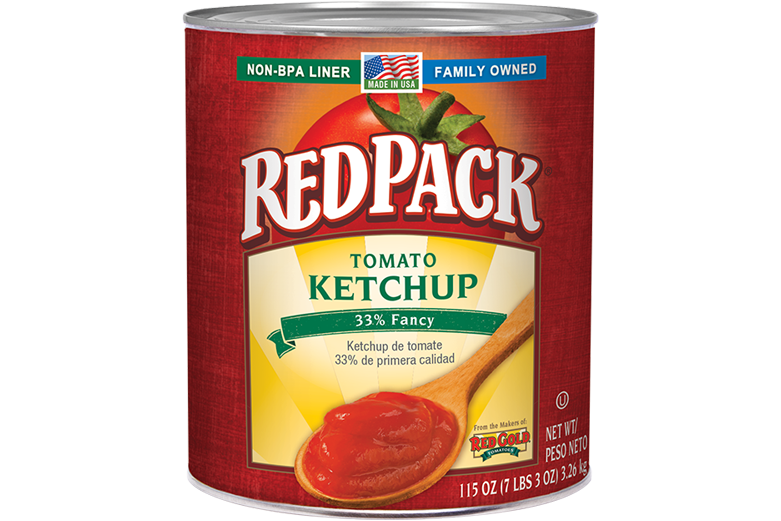 RPKY599_RedPack_TomatoKetchup_33Fancy_#10Can_115OZ_Foodservice