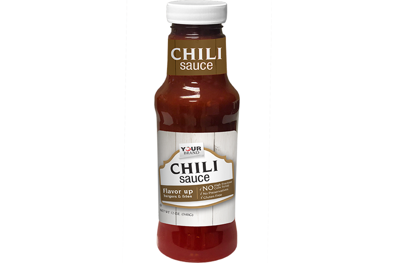 Private Brand_KS12_PetBottle_12 oz Chili Sauce Made with Sugar